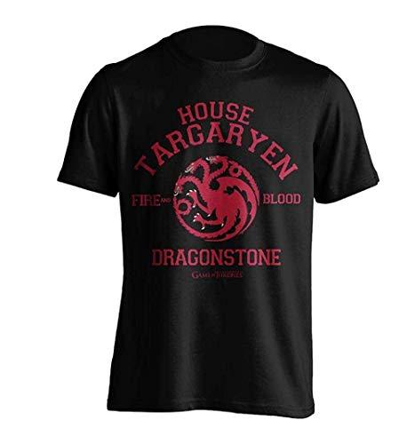 Game of Thrones - House Targaryen Dragonstone - T-Shirt Ufficiale Uomo - Nero, XXL