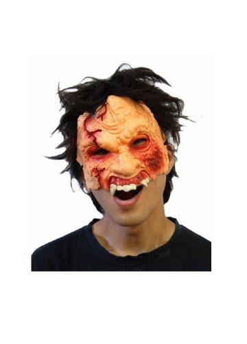 Superbe Perruque demi-masque Japonais-Motif : Zombie