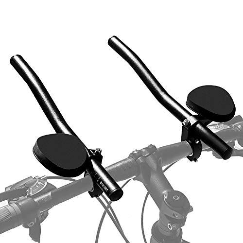 Ejoyous Fahrradlenker Aufsatz Renn-/Triathlonlenker aus Aluminiumlegierung für Mountainbikes (Schwarz)