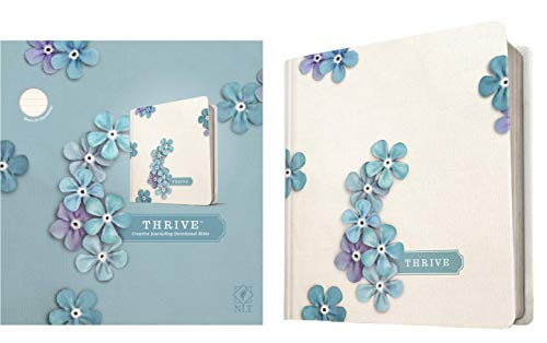 Compare Textbook Prices for NLT THRIVE Creative Journaling Devotional Bible Hardcover, Blue Flowers  ISBN 9781414368139 by Tyndale,Shepherd, Sheri Rose