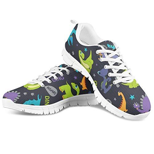 Woisttop para mujer, zapatillas con cordones para mujer, diseño especial, cómodo, transpirable, para correr, para correr, para mujer, zapatos de goma antideslizantes, color de tenis, talla 45 EU
