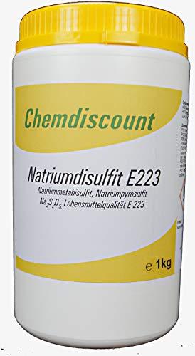 1kg Natriumdisulfit (Natriummetabisulfit, Natriumpyrosulfit) in Lebensmittelqualität E 223, versandkostenfrei