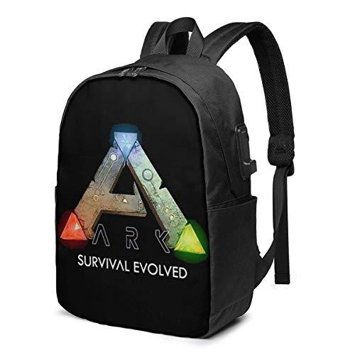 HOIH USB 17-Zoll-Rucksack Arche Survival Evolved School Business Langlebige Laptops Tasche Ladeanschluss Geschenke Männer Frauen Student