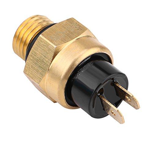 Keenso Interruptor de temperatura del ventilador, termostato del ventilador de enfriamiento del motor eléctrico de 2 tiempos y 4 tiempos, termostato del ventilador para HUSQVARNA HUSABERG