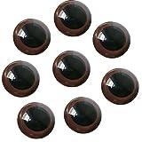 100 piezas de ojos de seguridad de plástico marrón DIY accesorios de artesanía de costura para...