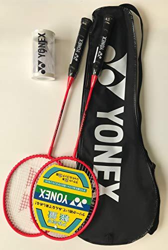 YONEX(ヨネックス) グラフレックス レッド 2本組みラケット GR417WAG