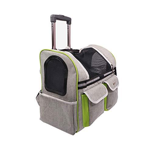 XL- Zaino per Animali Domestici Portatile Traspirante Oxford Carrelli Zaino per Cani Adatto per Viaggi All'aperto (Color : Silver)
