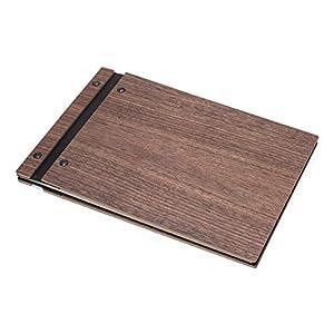 BeWooden Caleo Wooden Photoalbum | Fotoalbum aus Holz | Weisse Seiten | Zum Selbstgestalten | Scrapbook | Ein…