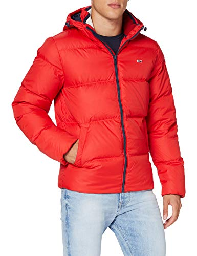 Tommy Jeans Herren TJM Essential DOWN Jacket Jacke, Deep Crimson, Medium