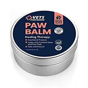 Vets Preferred Advanced Pad Protection | VETERINARIAN-GRADE Dog Paw Balm | Heals, Repairs, and Moisturizes Dry Noses and Paws | Effective  | Ideal for Extreme Weather Conditions