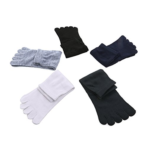 WINOMO Cinq 5 paires hommes orteils séparateur chaussettes alignement pied chaussettes masseur