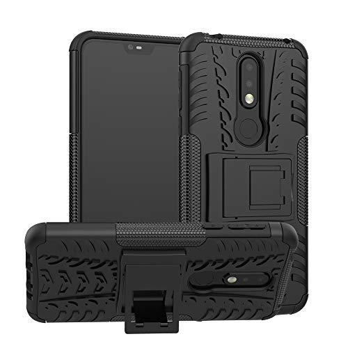CaseExpert Nokia 7.1 Custodia Cover, Resistente alle Cadute Armatura dell'impatto Robusta Custodia Kickstand Shockproof Protective Case per Nokia 7.1 / Nokia 7 (2018)