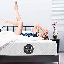 Queen Mattress 10 inch, Foho Gel Memory Foam Mattress in a Box, Medium Firm Feel, Sleep Cooler, Sleep Supportive, Comfy Body Support with Pressure Relief, CertiPUR-US Certified Foam Bed Mattress