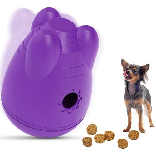 Hundespielzeug Interaktiver Hunde Snackball, Leckerli Futterball, Anti Schling Ball für Welpen und erwachsene Hunde, Intelligenzspielzeug