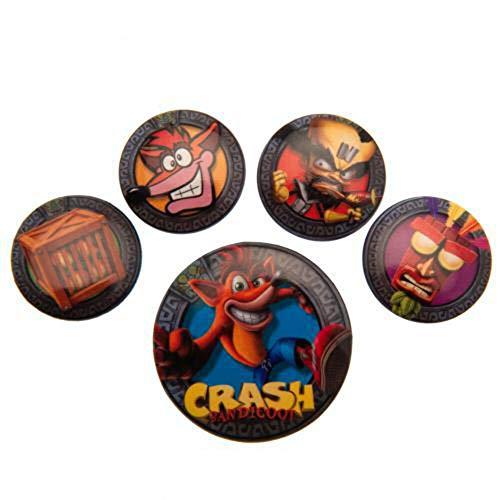 Lot de badges Crash Bandicoot (Pop Out) de Pyramid International