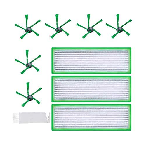 SODIAL 10 Piezas de Accesorios, Cepillos de Repuesto Filtro