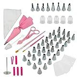 WACLT 83 Uds, Accesorios para hornear, juego de herramientas, decoración de pasteles, utensilios para colorear, utensilios para colorear, cortadores de silicona, raspador de crema, soporte para tart