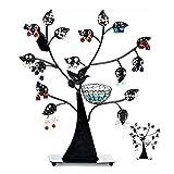 Estilo Europeo Creativo pájaro árbol Pendiente exhibición árbol Pendiente Soporte Soporte de...