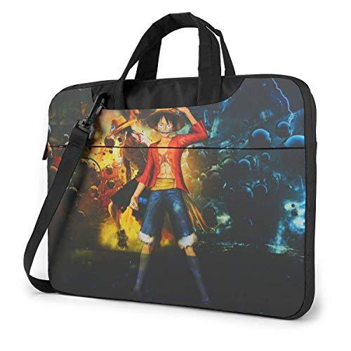 15.6 inch Laptop Shoulder Briefcase Messenger Anime One Piece Tablet Bussiness Carrying Handbag Case Sleeve