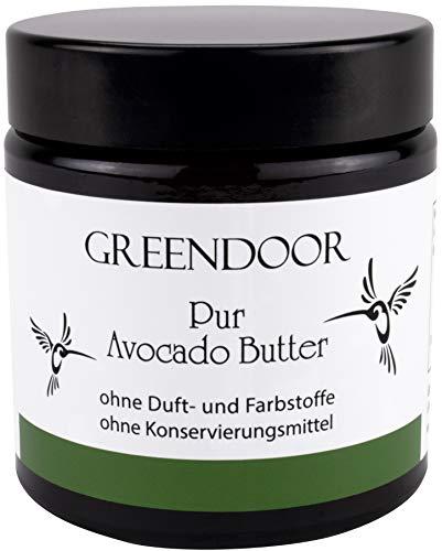 PUR Avocadobutter 120ml, rein, nur physikalisch raffiniert, vegan, incl Kosmetikspatel, allergenfreie Naturkosmetik, natürliche Avocado Butter, Natur Pur