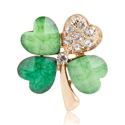 Spilla LXT Spille o spille in verde o quadrifoglio e strass o accessori di vari disegni