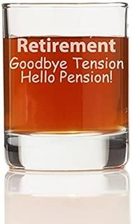 Retirement Goodbye Tension Hello Pension Shot Glass (Set of 4)