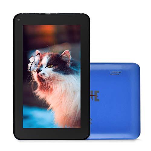 Haehne 7 Pollici Tablet PC, Android 9.0 GMS HD, Quad Core 1GB RAM 16GB ROM, WiFi, Bluetooth, Azzurro