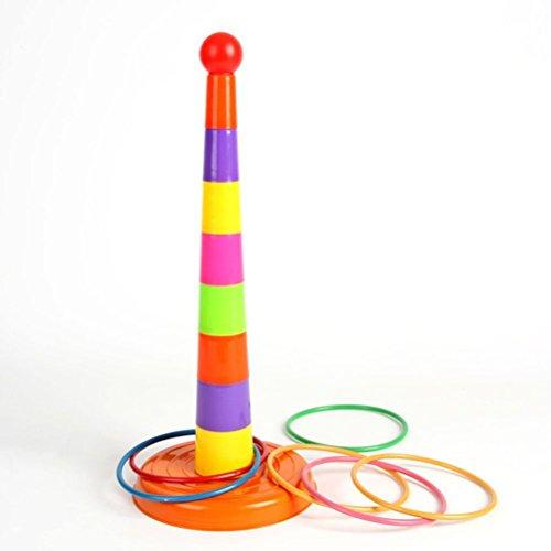 Nuolux, giocattolo getta anelli di plastica, per bambini ed adulti, giochi da esterno ed interno