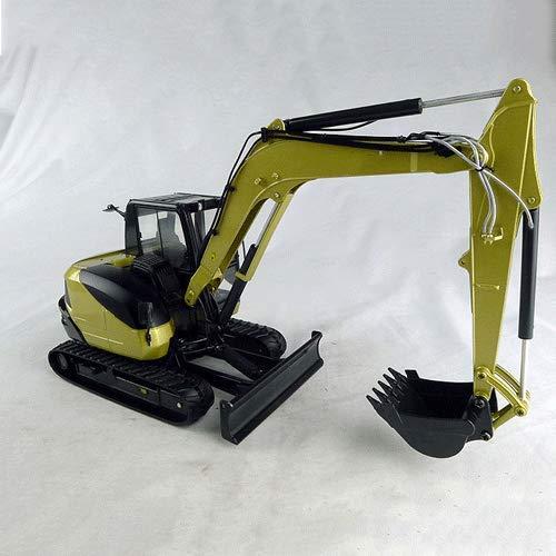 WANGCH 1:24 Ingeniería Modelo de vehículo Aleación Bulldozer Excavadora Ingeniería Vehículo Simulación de Alta precisión Modelo de automóvil Modelo de Coche de Gama Alta Juguetes Cumpleaños y Regalos