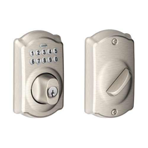 Schlage BE365CAM619 Be365 Camelot Keypad Deadbolt, Satin Nickel
