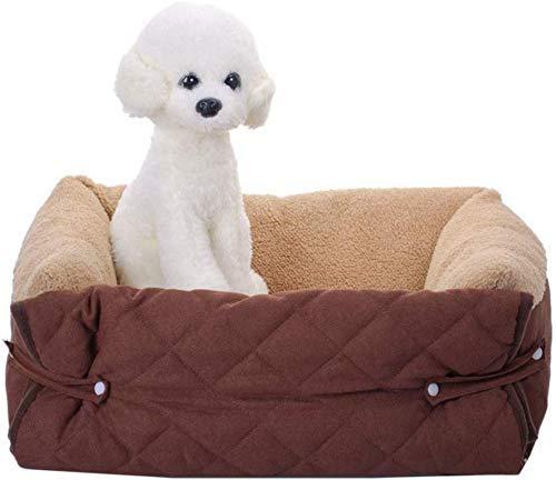 BANANAJOY Mascotas Camas, Cama del Perro Multifuncional, Suave Pet cojín del sofá, portátil Ligero Lavable Brown-M