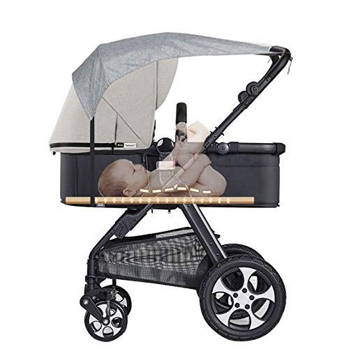 YZNlife Universal Sonnensegel für Buggy, Kinderwagen Sonnenschutz UV Schutz Kinderwagenverdeck, Wasserdicht Buggy-Sonnendach flexibles Sonnenverdeck für Babys