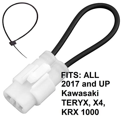 Seat Belt Bypass FITS: ALL 2017 and Newer Kawasaki TERYX all models KRX 1000 LE 2 4 Seater Harness Override Switch Connector Jumper Plug Clip Accessories Over Ride By-Pass