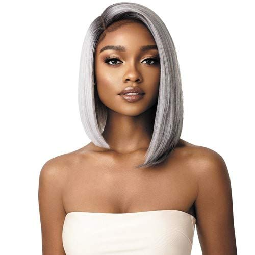 Outre Synthetic Swiss Lace Front Wig - LENI (1B Off Black)