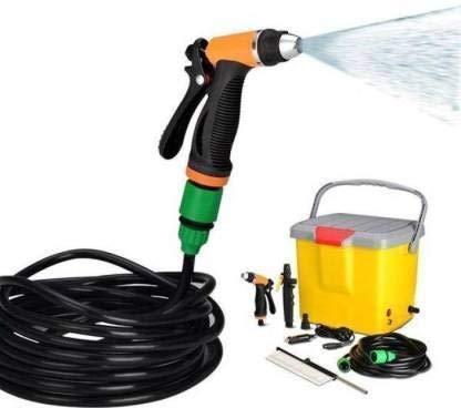 Whixant Portable 12V DC Electric High-Pressure Automatic Car/Bike Washer Water Spray Washing Machine