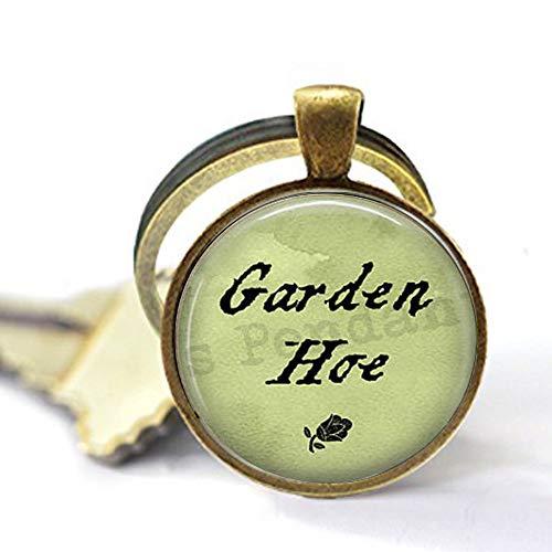 """bab Gartenhacke mit Spruch """"Gardening Pun"""", Gartenschmuck, Geschenk für Gärtner, lustiges Zitat, Schlüsselanhänger mit Bibel-Zitat"""