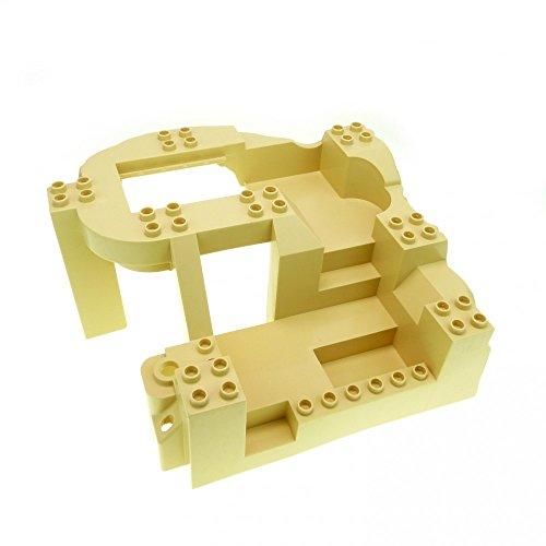 1 x Lego Duplo 3D Bau Platte beige tan 14x16x8 groß Typ1 Felsen Steinbruch Baustelle Zoo Dino Welt 5653 4960 31384