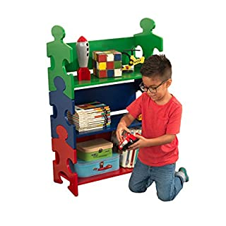 KidKraft Wooden Puzzle Piece Bookcase with Three Shelves - Primary, Multicolor, Model:14400 (B0001XAHM2) | Amazon price tracker / tracking, Amazon price history charts, Amazon price watches, Amazon price drop alerts