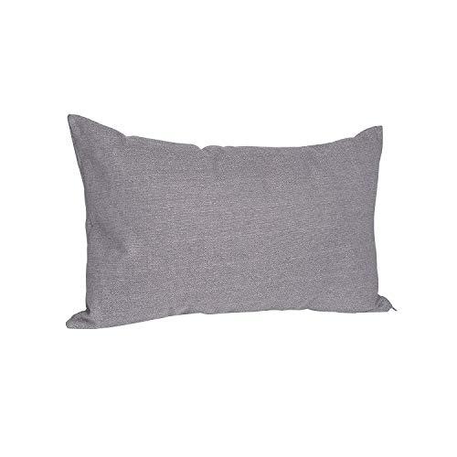 salosan® Sofakissen, Lounge Rückenkissen, Kopfkissen, Couch- oder Palettenkissen, Dekokissen Strukturpolsterstoff in 7 Unifarben für trendiges Wohndesign. Größe 40x70 cm (Grau)