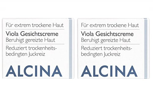 2 T Viola Crème Nourrissante visage cosmétique Alcina Apaise la peau irritée jamais 100 ml = 200 ml