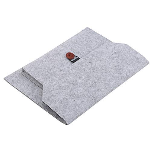 N/A Portable Computer Liner Bag Tablet Housse de Protection pour Ordinateur Portable Notebook Shroud Felt Box Protection Sack Office Business Document Handbag (Light Grey 13 inch)