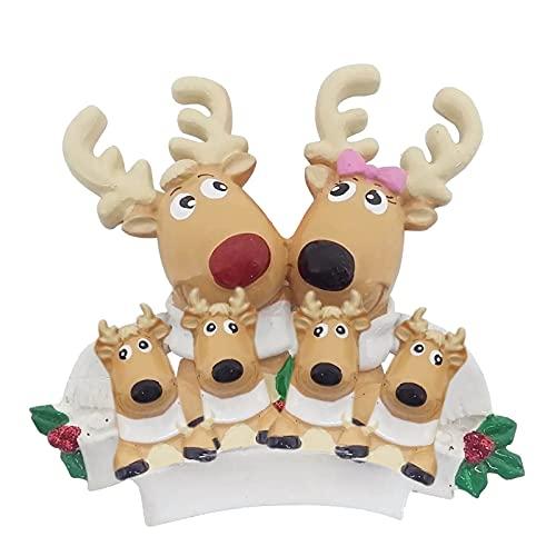 TianWlio Weihnachten Elch Schneemann Weihnachtsbaum Anhänger,Personalisierte DIY Familie Name Weihnachtsschmuck Kit Weihnachtsbaum Anhänger