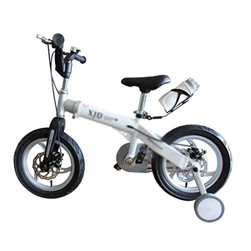 LIPENLI Infantil Variable de Bicicletas de montaña Bicicletas Estudiante Velocidad de Bicicletas 3-6 años Good telescópicas niños y niñas de Bicicletas Mejor Regalo (Color: Blanco, Tamaño: 14INCH (el