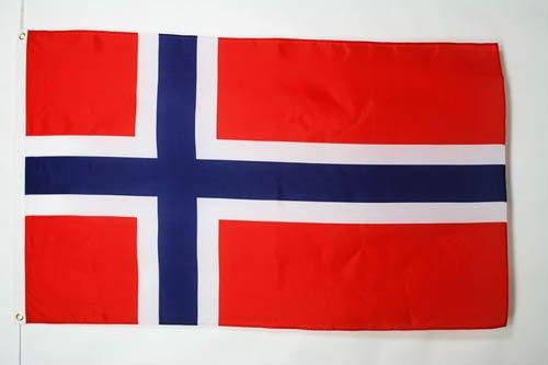 AZ FLAG Flagge NORWEGEN 150x90cm - NORWEGISCHE Fahne 90 x 150 cm - flaggen Top Qualität