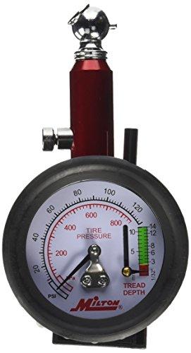Milton (S-934) Dial Tire Pressure Gauge - Single Head Tire Tread Depth Gauge