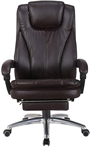 Armchairs GSN Executive Recline Office Chairs Furniture, Extra Padded High Back Reclining Leather Relaxing Ergonomic Swivel Executive with Footrest Lounge Chair Office Chair
