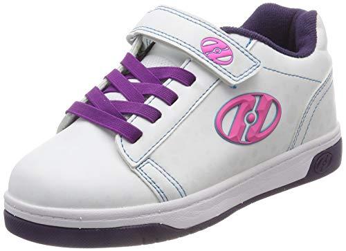 Heelys Dual Up X2, Zapatillas para Niñas, Blanco (White/Purple/Flash White/Purple/Flash), 32 EU