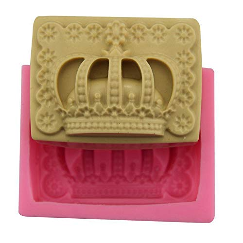Royal Crown Regina Rettangolo, 3D in Silicone Cioccolato Sapone Torta Fondente Cupcake, Argilla, Resina, Cera, Pappa Fare la Muffa, Pane di Gesso, Stampo di Fusione