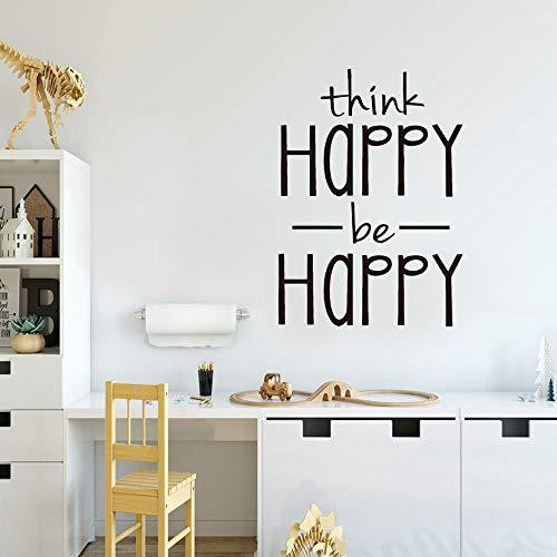 Gracias feliz feliz pegatinas de pared decoración de la pared dormitorio habitación de los niños habitación de niña niño bebé arte mural pegatinas de pared A5 57x45cm