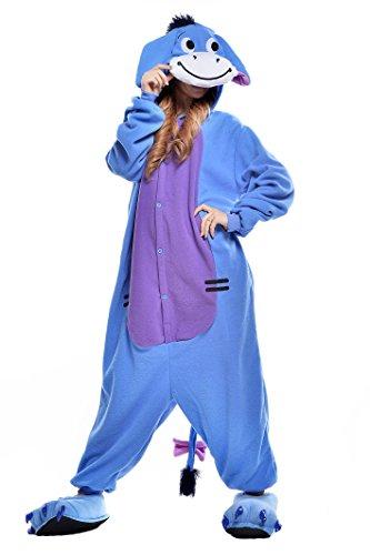 NEWCOSPLAY Adult Donkey Unisex Pyjamas Halloween Onesie Costume (S, Donkey)